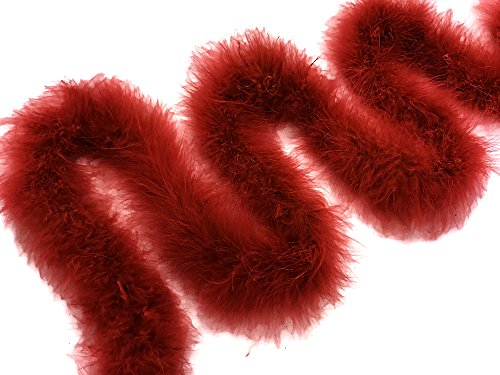 Moonlight Feather | 2 Yards - Red Turkey Medium Weight Marabou Feather Boa 25 Gram Craft Party Costume