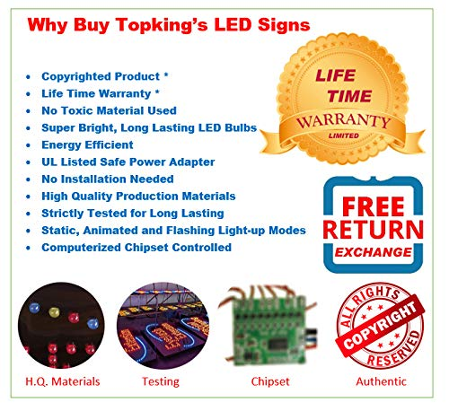 Store Sign Income Tax Sign Windows Sign High Quality LED Open Sign Business Sign
