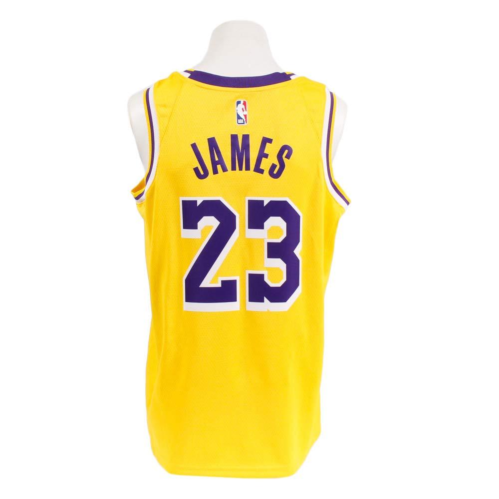 ac36c0b557e5 Amazon.com  Nike Mens Los Angeles Lakers Lebron James 2018-19 NBA Swingman  Gold Jersey 100% Authentic  Clothing