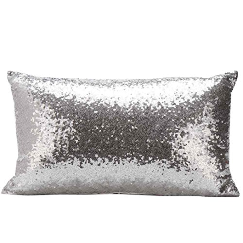pillow cover glitter sequins rectangle
