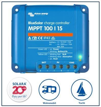 Pack Premium victron Ré gulateur de charge MPPT 100/15 pour caravane et yachts Victron Energy