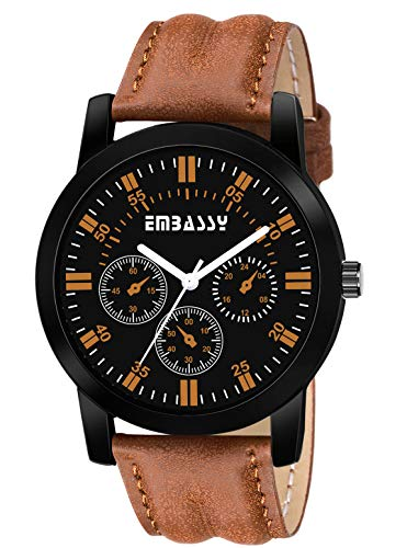 Embassy Casual Black Dial Analog Watch for Boys