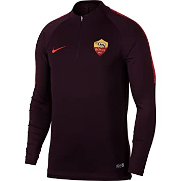 Nike 2018-2019 AS Roma Training Drill Top (Burgundy): Amazon.es: Deportes y aire libre