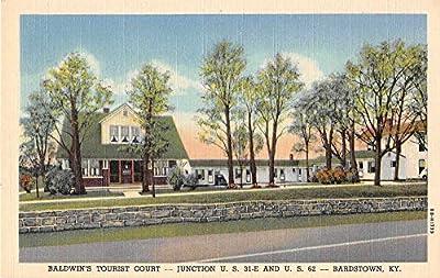 Bardstown Kentucky Baldwins Tourist Court Linen Antique Postcard J53392
