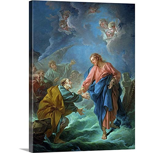 GREATBIGCANVAS Gallery-Wrapped Canvas Entitled St. Peter Invited to Walk on The Water, 1766 by Francois Boucher 23