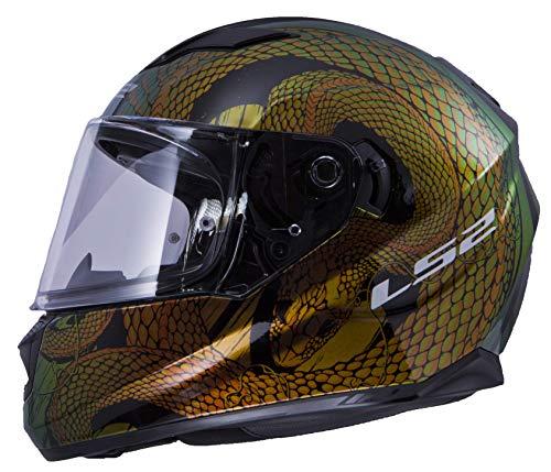 LS2 Helmets Motorcycles & Powersports Helmet's Full Face Stream (Chameleon Snake Bite, - Icon Motorcycle Helmets