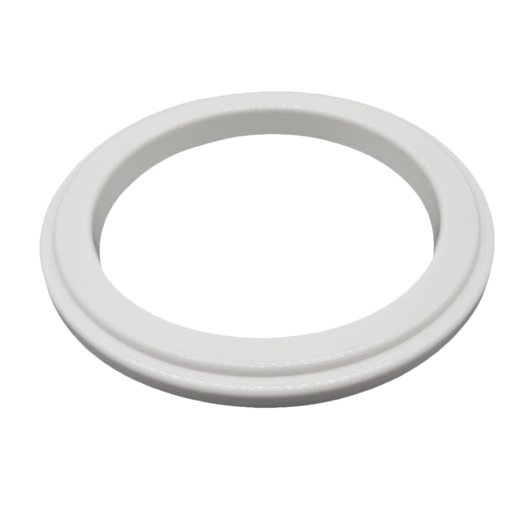 Fenteer Creative Plastic Round Pizza Saucing Ring Mold Non Stick Pizza Prep Tools 6/7 / 8/9 / 10/12 inch - White, 6inch