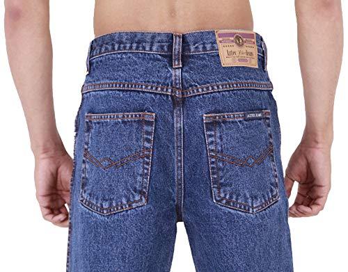 56 Straight Jeans It corto Xx Blu Uomo Stonewash Aztec PXZB6