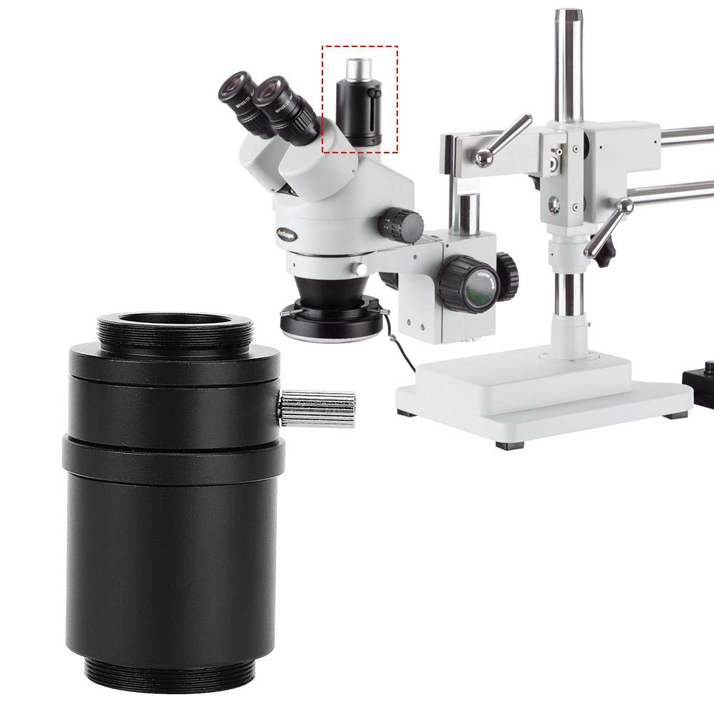 Stereo Microscope Mount Lens Aluminum Alloy Stereo Camera Adapter CTV Interface Lens Adapter 25mm