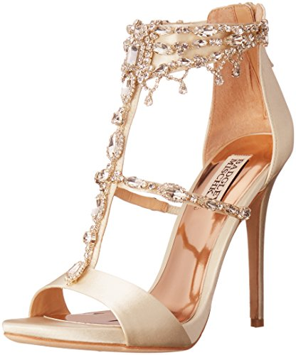 Badgley Mischka Women's Dent Dress Sandal, Ivory, 5 M US