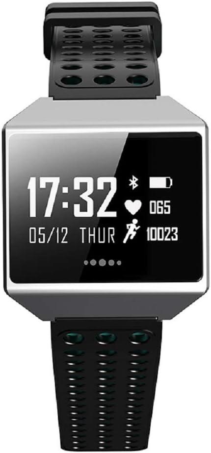 LinZec SMAEL-Pj20 Reloj ElectróNico Inteligente, Conteo De Pasos De Deportes Frecuencia CardíAca Soporte Android iOS Bluetooth Multi-FuncióN Reloj,Blue
