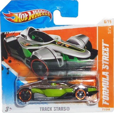 2011 Hot Wheels FORMULA STREET (chrome silver and green) for sale  Delivered anywhere in USA