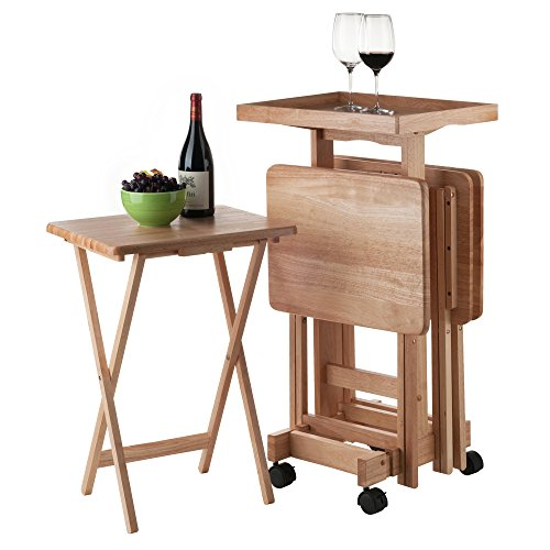 Winsome Wood 42820 Isabelle 6 Piece Snack Table Set, Natural by Winsome Wood (Image #7)
