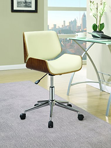 Coaster Home Furnishings 800613 Leatherette Office Chair, NULL, Ecru by Coaster Home Furnishings (Image #1)
