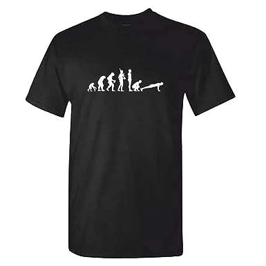 152c487c Mens Crossfit Evolution Tshirt - Black Burpees Training T Shirt:  Amazon.co.uk: Clothing