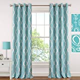 Cheap Elrene Home Fashions 026865901382 Juvenile Teen or Tween Blackout Room Darkening Grommet Window Curtain Drape Panel, 52″ x 95″, Aqua