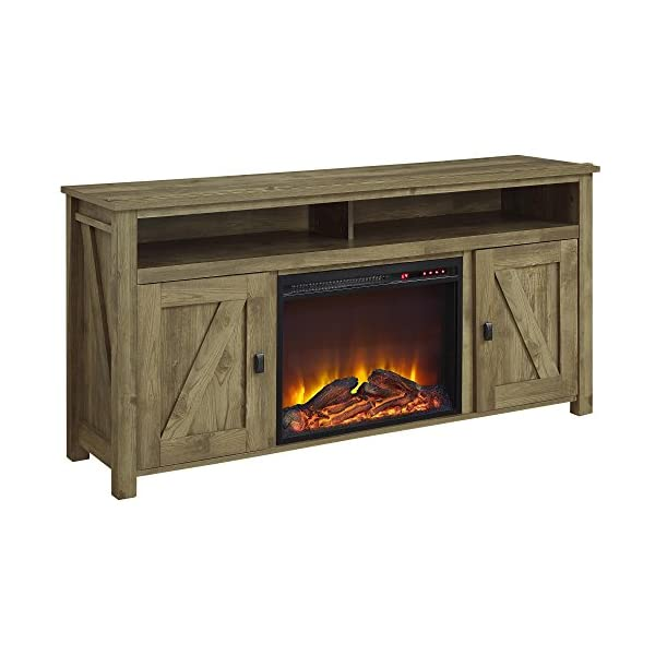 """Ameriwood Home Farmington Electric Fireplace TV Console for TVs up to 60"""", Natural -"""