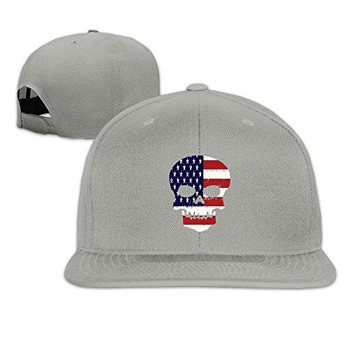 MaNeg Skull Flag Unisex Fashion Cool Adjustable Snapback Baseball Cap Hat One - Dior Model Male