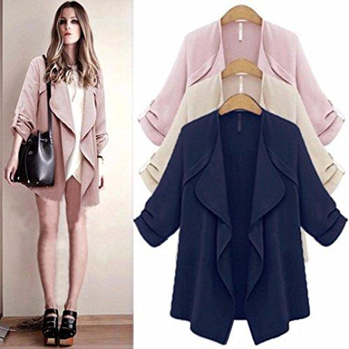 En Vrac Marine Taille Femmes Transer ® Solide Manteau Manches mode Cardigan Longues Femme Plus OPqv4