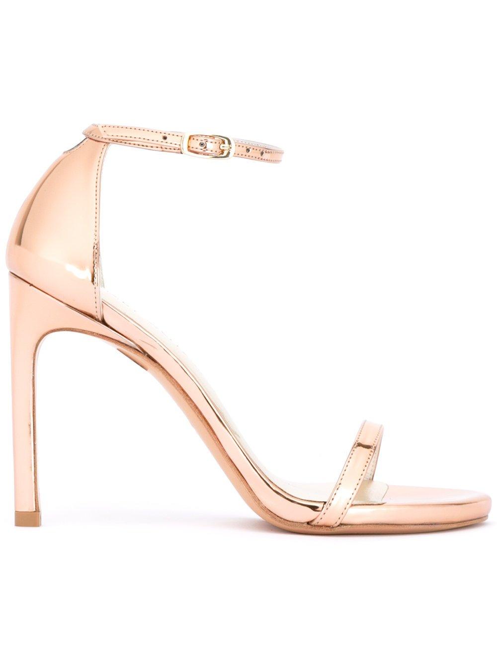 Stuart Weitzman Nudist Song sandals BEIGE GLASS Women Shoes 7