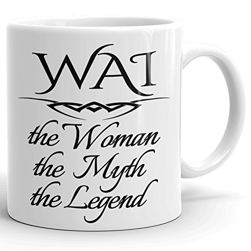 Best Personalized Womens Gift! The Woman the Myth the Legend - Coffee Mug Cup for Mom Girlfriend Wife Grandma Sister in the Morning or the Office - W Set 1