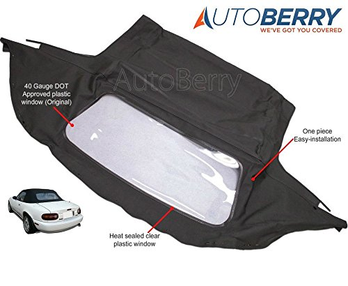 Mazda Miata Convertible Top with Plastic Window Black Cabrio 1989-2005 (2003 Mazda Miata Convertible Top compare prices)