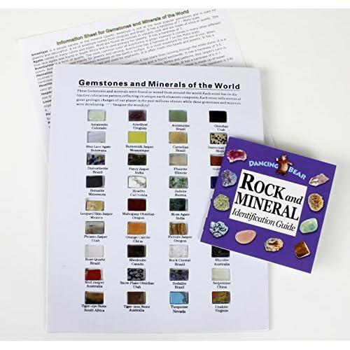 Rocks & Minerals from around World, 36 Pc Assorted Gem Stone