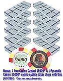 Da Vinci 10 Acrylic Stackable 100-Chip Poker Chip Trays/Racks
