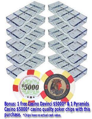Da Vinci 10 Acrylic Stackable 100-Chip Poker Chip Trays/Racks by Da Vinci
