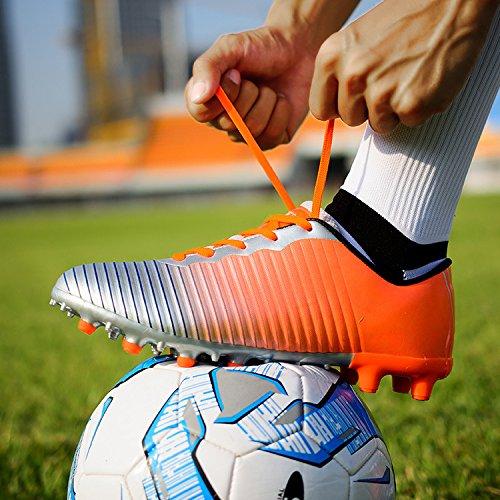 DoGeek Football Boots Junior Adults Soccer FG Football Shoes Orange VjZtz9