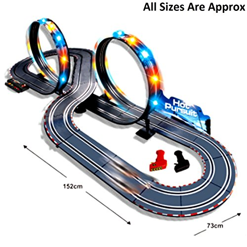 new large remote control light up slot car racing track kids toy childrens game boys xmas gift amazoncouk toys games