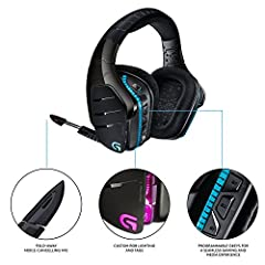 The Logitech G933 Artemis Spectrum is a wireless gaming headset worthy of serious audio fans. Designed for multiple platform compatibility, these gaming headphones are perfect for PCs, PS3s, PS4s, the Xbox One and any TV with powered USB or R...