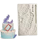 Feather Fondant Cake Silicone Molds & Candy Molds& Chocolate Mould - Wax Molds Christmas Theme D012