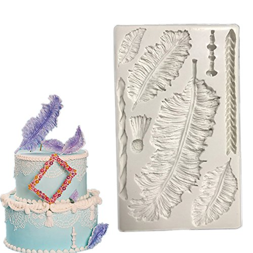 Feather Fondant Cake Silicone Molds & Candy Molds& Chocolate Mould - Wax Molds Christmas Theme Chicken Pot Pie Puff Pastry