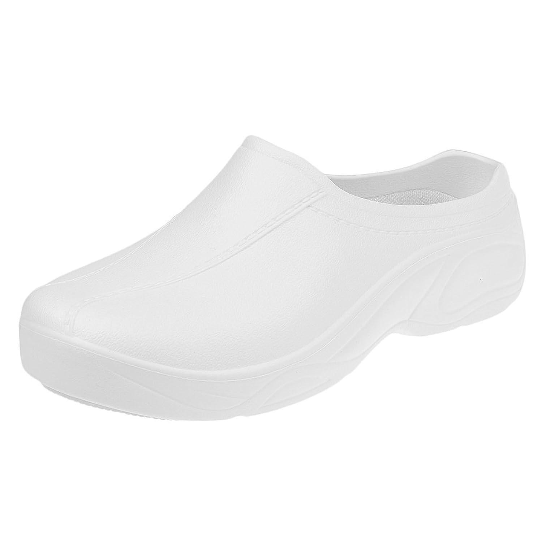 MagiDeal Zapatos de Enfermería de Cocinero de Mujeres Hombres Plástico Resistente al Agua Reduce Fatiga de Pie 2 Colores - Negro, 41