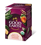 Good Earth Organic Apricot Ginger Black Tea, 18-Count Tea Bags (Pack of 6)
