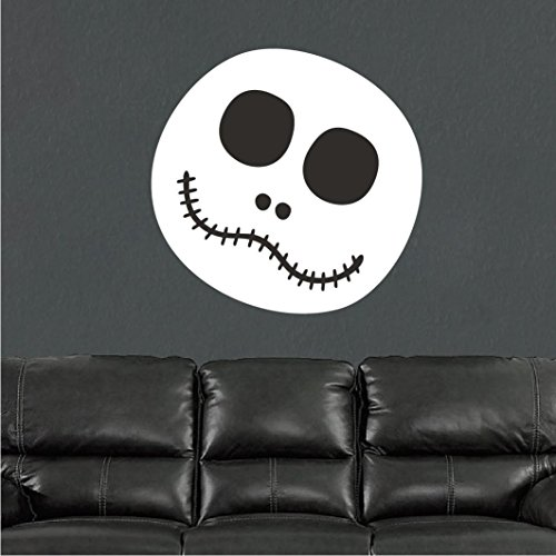 43SabrinaGill Halloween Ghost Face Wall Decal Mural Halloween Murals For Kids Scary Wall Decal Mural Halloween Face Wall Design -