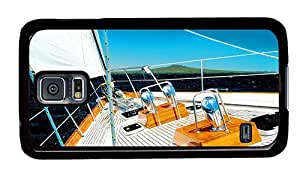 Hipster new Samsung Galaxy S5 Cases sail boat deck PC Black for Samsung S5