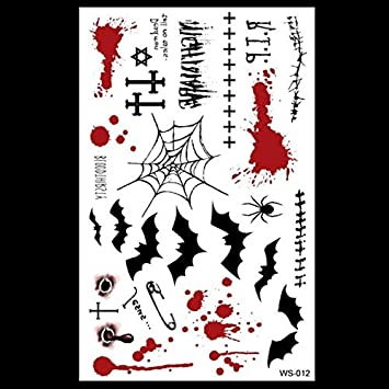 AZXPLM Etiqueta Engomada Del Tatuaje 1 Tatuaje De Halloween ...