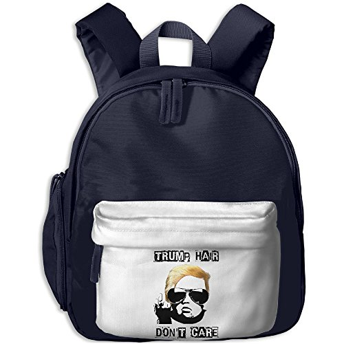 Mieba Trump Hair Dont Care Canvas School Backpack Baseball Backpack For Child