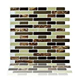 Cocotik Peel and Stick Tile 10.5''x10'' Decorative Backsplash Kitchen Tile - Pack of 6