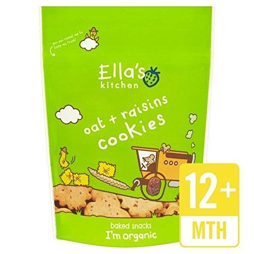 Ella's Kitchen Raisins & Spelt Cookies 80g - Pack of 6 (Spelt Raisin)
