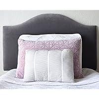 Dorm Headboard, Charcoal Velvet, Camelback Shape