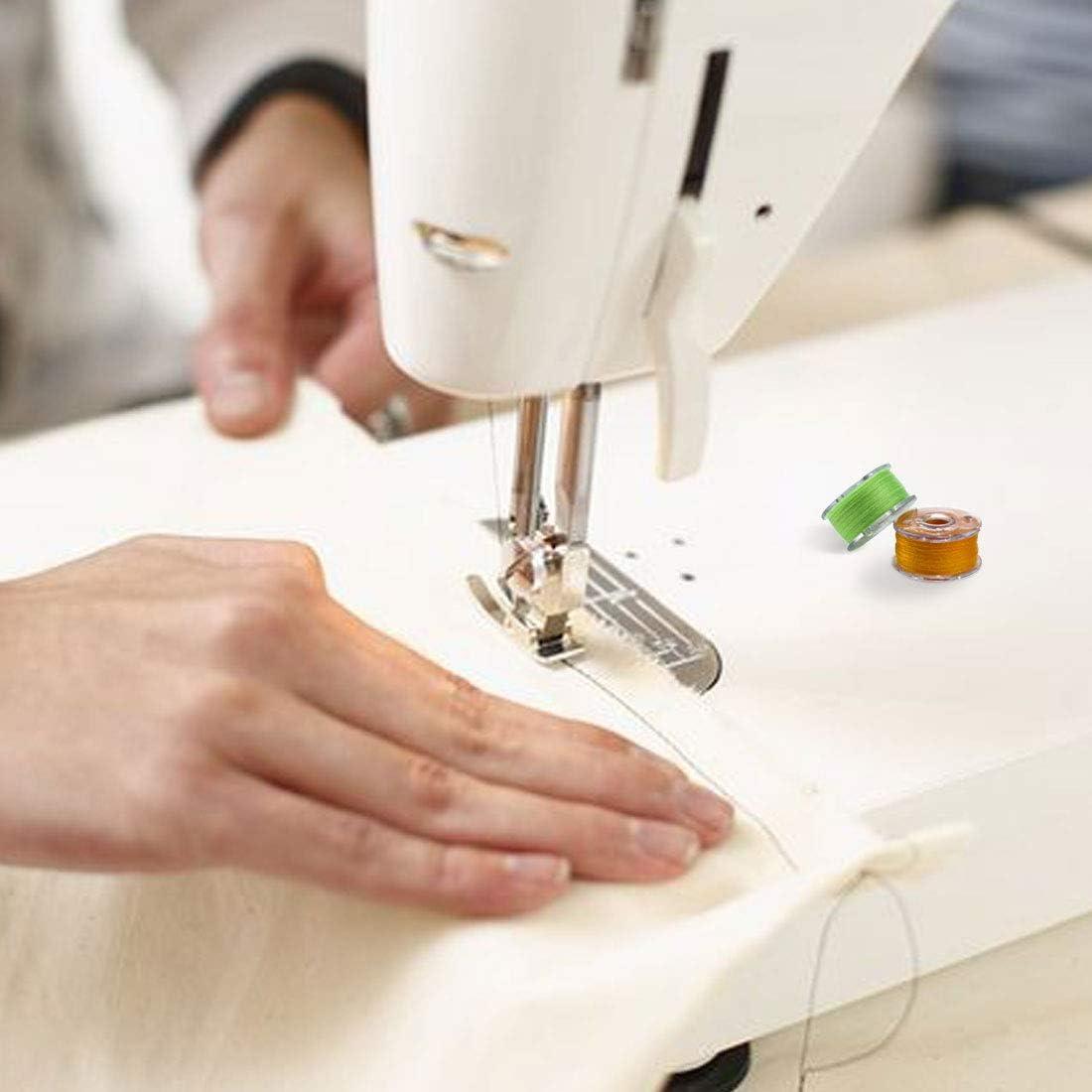 bobinas para m/áquina de coser Bobinas Para M/áquinas De Coser Pl/ásticos Multicolor con Estuche de Almacenamiento transparente Hilos Coser Maquina hilo de coser colorido