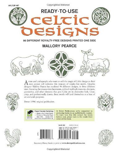 Ready-to-Use Celtic Designs: 96 Different Royalty-Free Designs Printed One Side