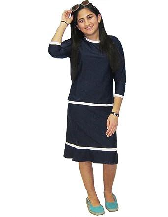 eae8fd7f5c8be Amazon.com: Aqua Modesta® Modest Girls two piece swim sets: Fashion  Swimwear Cover Ups: Clothing