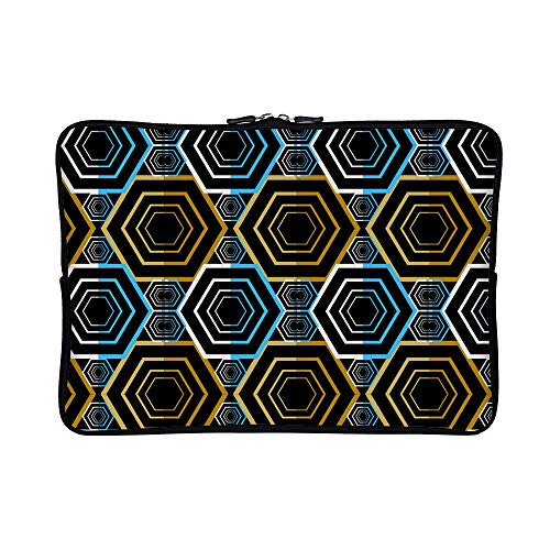 DKISEE Abstract Stone Path Seamless Pattern  Neoprene Laptop