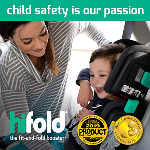 51wm9pKA0FL - Hifold Fit-and-fold Highback Booster Seat, Racing Red – Adjustable Highback Booster Car Seat For Everyday, Carpooling And More – Foldable Booster Seat For Travel