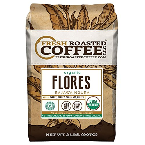 Flores Bajawa Ngura Organic, Whole Bean coffee, Fresh Roasted Coffee LLC (2 lb.)