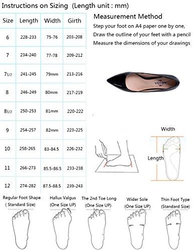 Abusa Kvinners Skinn / Semsket Sammenleggbar Sandaler Sko Pumper-skinnende Svart Skinn